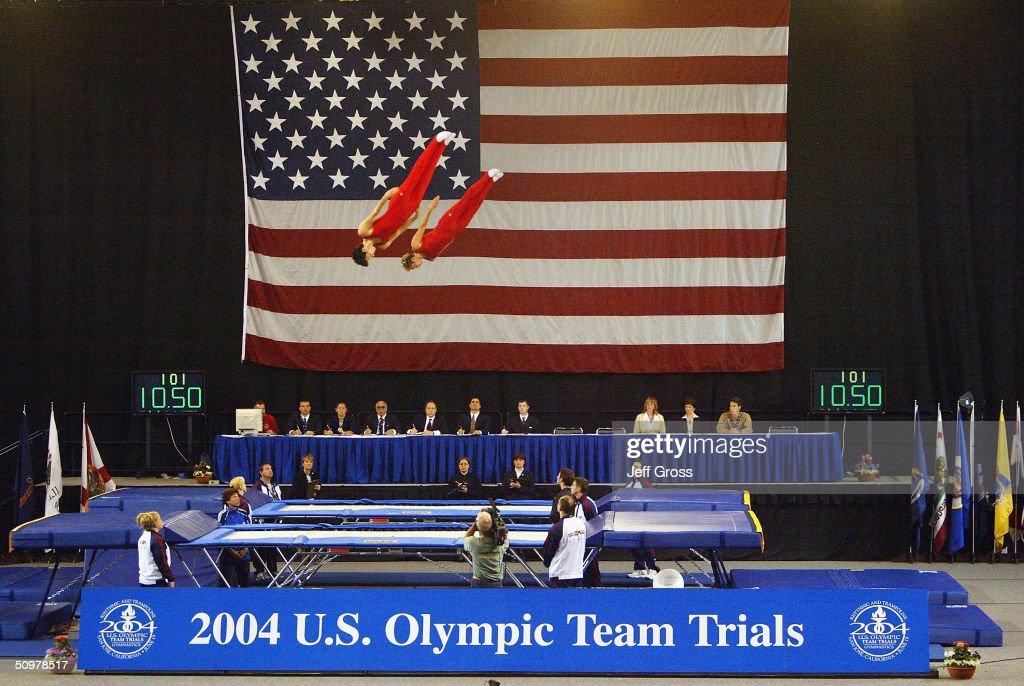 u s gymnastics olympic trials rhythmic trampoline getty images. Black Bedroom Furniture Sets. Home Design Ideas