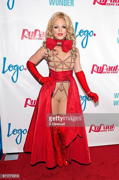 Derrick Barry attends Logo's 'RuPaul's Drag Race' Season 8 Premiere at Stage 48 on February 22 2016 in New York City