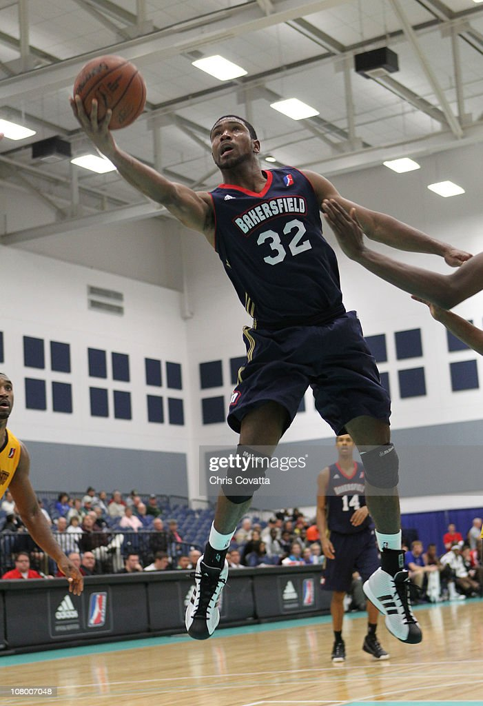 Derrick Byas #32 of the Bakersfield Jam shoots the ball against the Fort Wayne Mad Ants during the 2011 NBA D-League Showcase on January 12, 2011 at the South Padre Island Convention Center in South Padre Island, Texas.