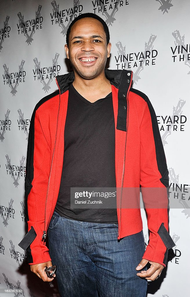 Derrick Cobey attends the off Broadway opening night of 'The North Pool' at Vineyard Theatre on March 6, 2013 in New York City.