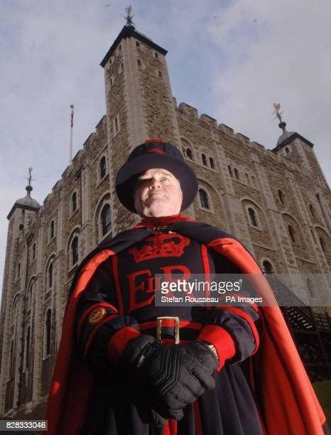 Derrick Coyle the Raven Master at the Tower of London stands by the famous ravens' new home