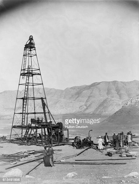 A derrick in the early days of Persian oil field development in 1909 In 1935 the country of Persia officially changed its name to Iran