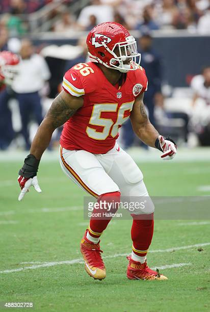 Derrick Johnson of the Kansas City Chiefs in action during their game against the Houston Texans at NRG Stadium on September 13 2015 in Houston Texas