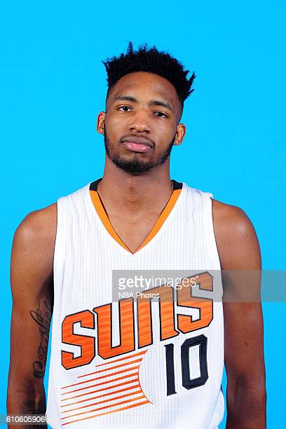 Derrick Jones Jr #10 of the Phoenix Suns poses for a headshot during the 20162017 Phoenix Suns Media Day on September 26 at Talking Stick Resort...