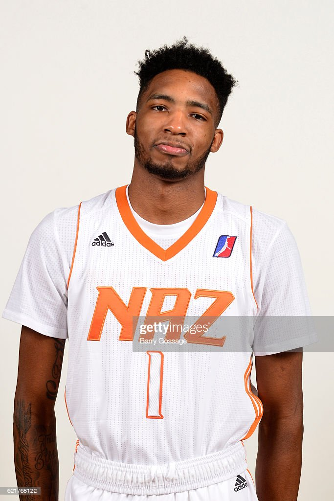 Derrick Jones of the Nothern Arizona Suns poses for a photo during Media Day on November 4, 2016, at Bradshaw Mountain High School East Campus in Prescott Valley, Arizona.