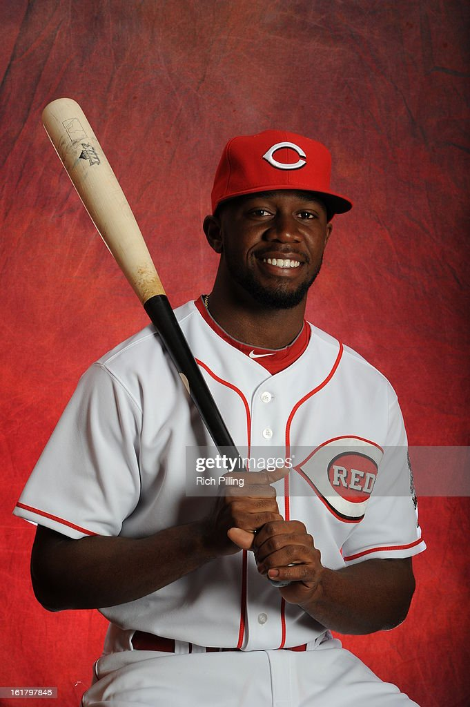 Derrick Robinson #81 of the Cincinnati Reds poses during MLB photo day on February 16, 2013 at the Goodyear Ballpark in Goodyear, Arizona.