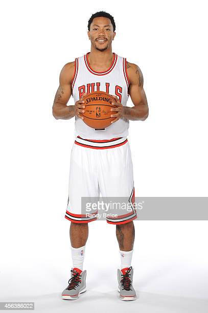 Derrick Rose of the Chicago Bulls poses for a picture as part of 201415 NBA Media Day at The Advocate Center on September 29 2014 in Chicago Illinois...