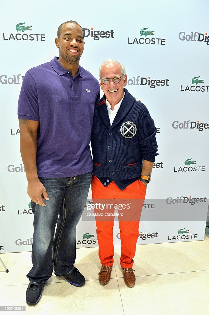 Derrick Shelby and Marty Hackel attends the Lacoste & Golf Digest Celebrate Links On Lincoln Honoring Cristie Kerron November 19, 2012 in Miami, Florida.