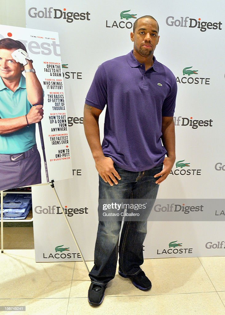 Derrick Shelby attends the Lacoste & Golf Digest Celebrate Links On Lincoln Honoring Cristie Kerron November 19, 2012 in Miami, Florida.