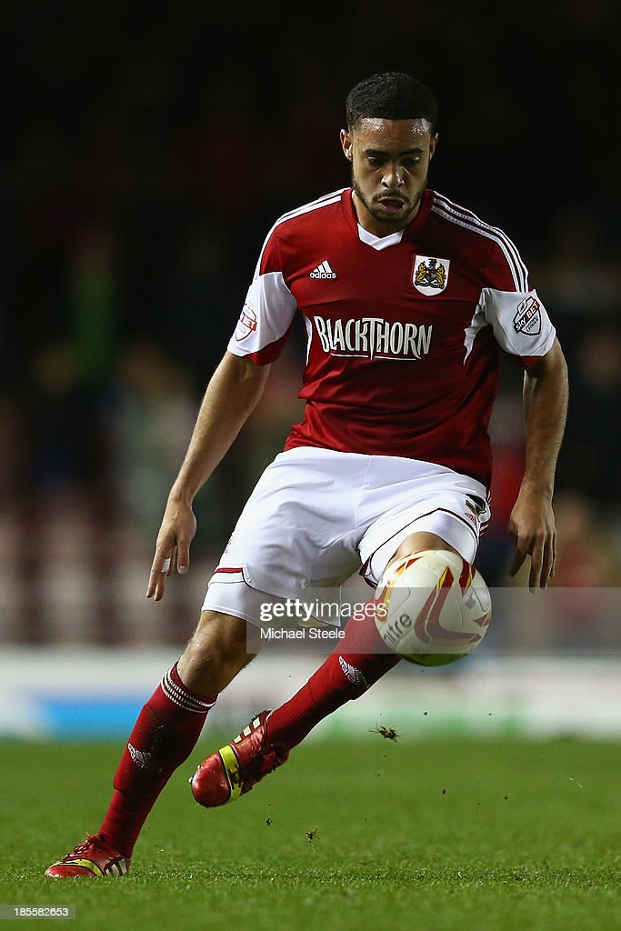 Derrick Williams of Bristol City during the Sky Bet League One match between Bristol City and Brentford at Ashton Gate on October 22, 2013 in Bristol, England.