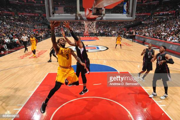 Derrick Williams of the Cleveland Cavaliers shoots the ball against the LA Clippers on March 18 2017 at STAPLES Center in Los Angeles California NOTE...