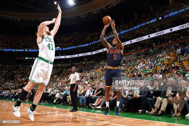 Derrick Williams of the Cleveland Cavaliers shoots the ball during the game against the Boston Celtics during Game One of the Eastern Conference...