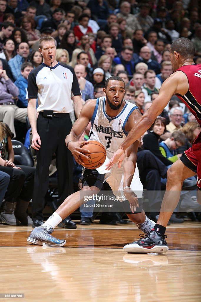 Derrick Williams #7 of the Minnesota Timberwolves looks to pass the ball against the Miami Heat on March 4, 2013 at Target Center in Minneapolis, Minnesota.