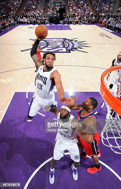Derrick Williams of the Sacramento Kings dunks against the Washington Wizards on March 22 2015 at Sleep Train Arena in Sacramento California NOTE TO...