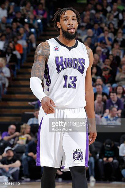 Derrick Williams of the Sacramento Kings looks on during the game against the Minnesota Timberwolves on April 7 2015 at Sleep Train Arena in...