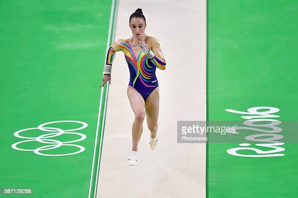 Derwael Nina competes in the Artistic Gymnastics Women's Team qualification during the Rio 2016 Summer Olympic Games on August 07 2016 in Rio de...