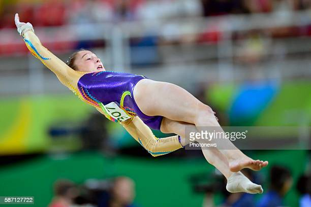 Derwael Nina of Belgium competes in the Artistic Gymnastics Women's Team qualification during the Rio 2016 Summer Olympic Games on August 07 2016 in...