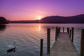 Derwent Water sunrise, Hawes End, The Lake District, England