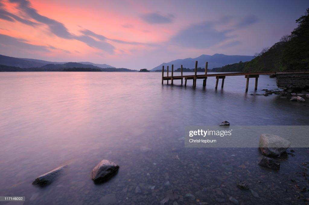 Derwent Water Sunset, Lake District National Park : Stock Photo