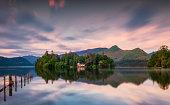 Derwentwater in the English Lake District,