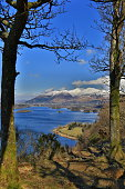 A view of Derwentwater from surprise view, lake district,England