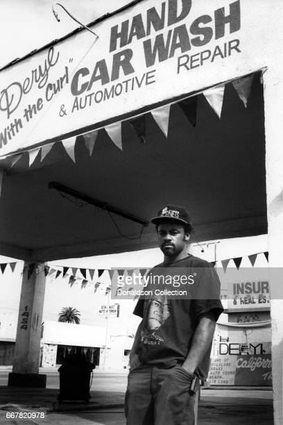 Deryl with the Curl outside his Hand Car Was and Automotive Repair shop at 1454 Florence Ave which he guarded with a gun during the Rodney King Riots...
