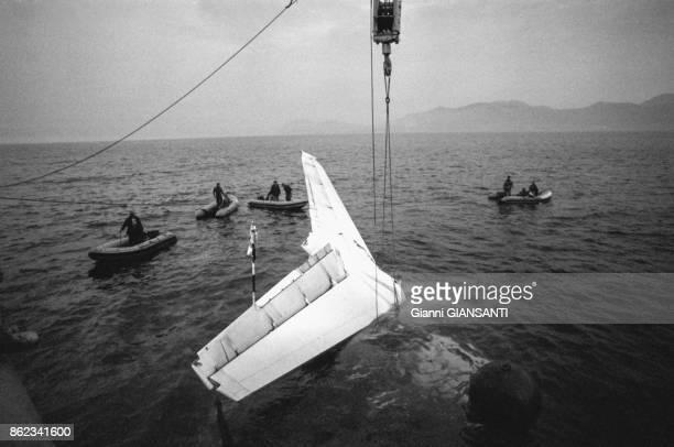 Des parties d'un avion de ligne Douglas DC9 sont retrouvées au large de la Sicile suite à un crash inexpliqué le 9 janvier 1979 Italie