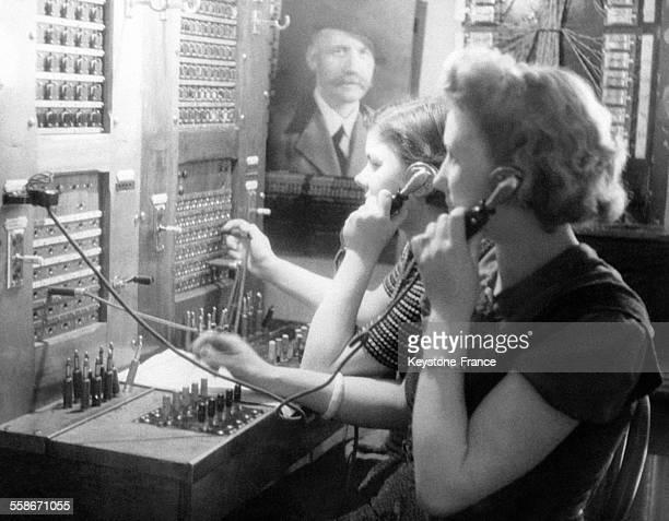 Des standardistes du central téléphonique en 1942 à Vichy France