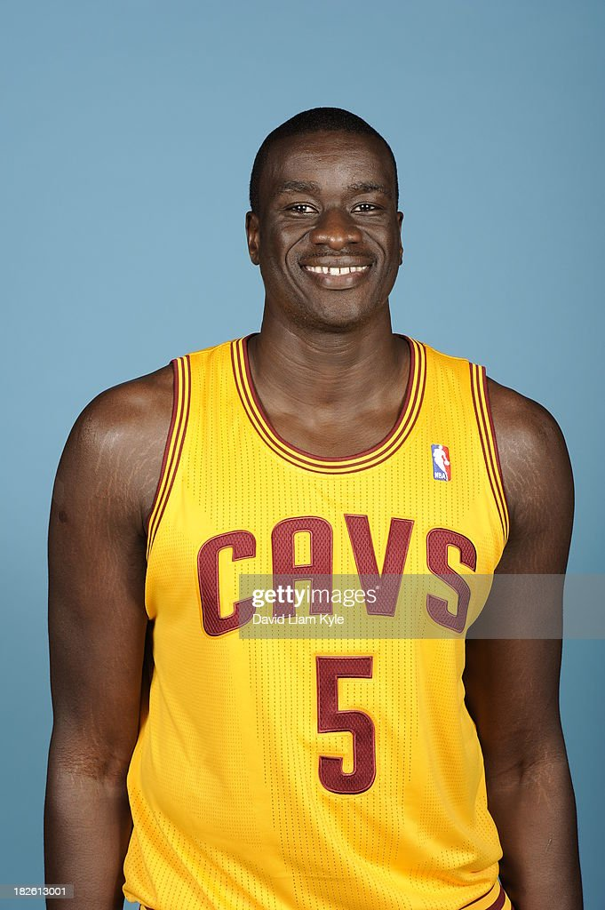 <a gi-track='captionPersonalityLinkClicked' href=/galleries/search?phrase=DeSagana+Diop&family=editorial&specificpeople=213233 ng-click='$event.stopPropagation()'>DeSagana Diop</a> #5 of the Cleveland Cavaliers poses for a portrait at Media Day on September 30, 2013 in Independence, Ohio.