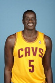 DeSagana Diop of the Cleveland Cavaliers poses for a portrait at Media Day on September 30 2013 in Independence Ohio NOTE TO USER User expressly...