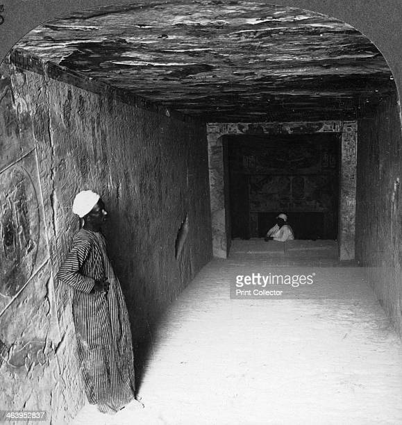 'Descending gallery in tomb of Sethos I Thebes Egypt' 1905 'This excavation in the mountain is the sepulchral chamber for the mummy and the long...