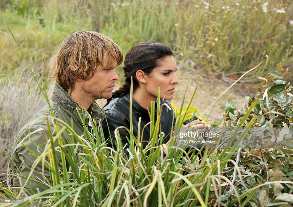 "'Descent'"" Pictured (L-R): <a gi-track='captionPersonalityLinkClicked' href=/galleries/search?phrase=Eric+Christian+Olsen&family=editorial&specificpeople=549583 ng-click='$event.stopPropagation()'>Eric Christian Olsen</a> (LAPD Liaison Marty Deeks) and <a gi-track='captionPersonalityLinkClicked' href=/galleries/search?phrase=Daniela+Ruah&family=editorial&specificpeople=5962523 ng-click='$event.stopPropagation()'>Daniela Ruah</a> (Special Agent Kensi Blye). An explosion in the desert rekindles the search for stolen nuclear weapons and prompts Hetty to shuffle the"