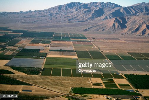 Desert agriculture, Imperial Valley, California : Foto de stock