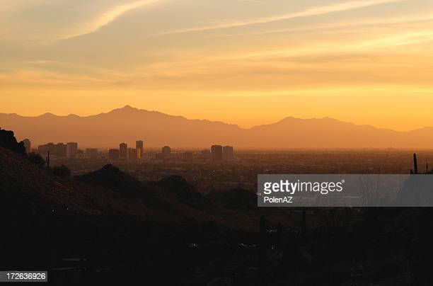 Desert City Sunset
