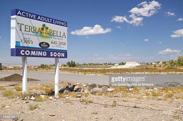 Desert construction of new homes in Clark County Las Vegas NV