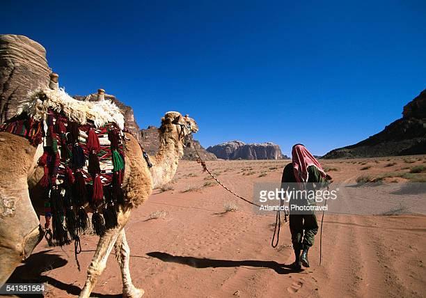 Desert Guard and Camel in Wadi Rum