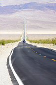Desert Highway in the Death Valley National Park, California, USA..Adobe RGB Color Space.