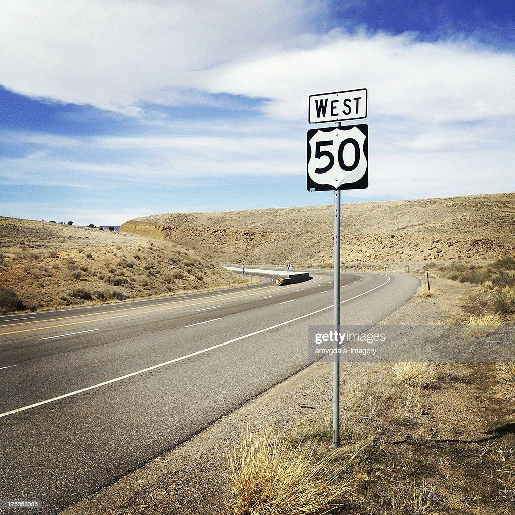 desert highway west road trip