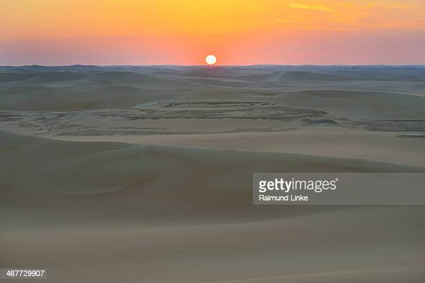 Desert Landscape at Sunrise