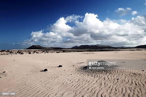 Desert landscape in Corralejo
