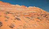 desert landscape in coyote buttes region of Arizona?Utah