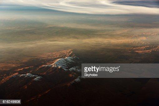 Desert Mountain Aerial View : Foto de stock