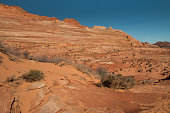Desolate and barren desert in Paria Canyon area of the Vermillion Cliffs Wilderness