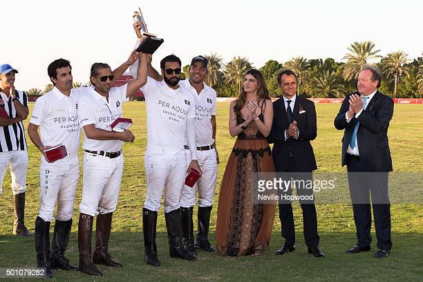 Desert Palm Polo team win the Cartier International Dubai Polo Challenge Matias Machado Rashid Al Habtoor Tariq Albwardy and Daniel Gradiador Making...