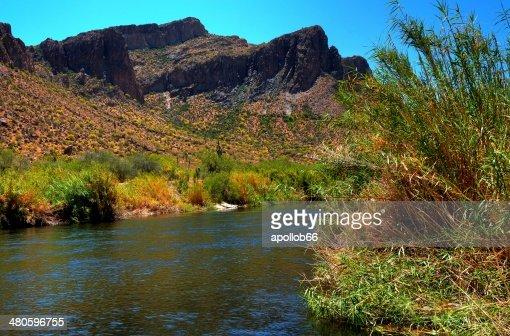 Desert River : Stock Photo