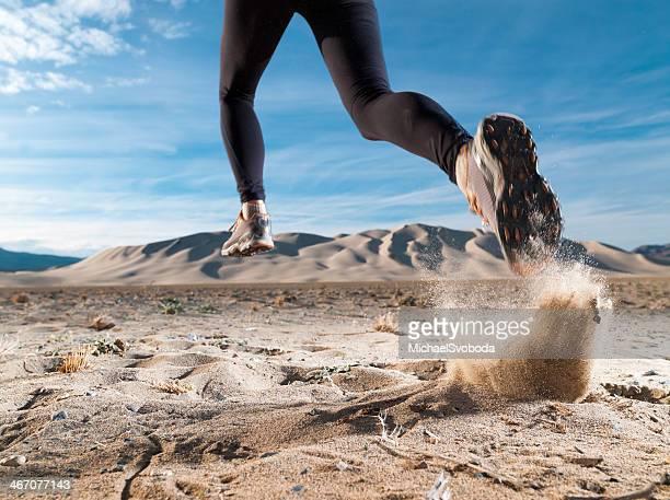 Corridore nel deserto