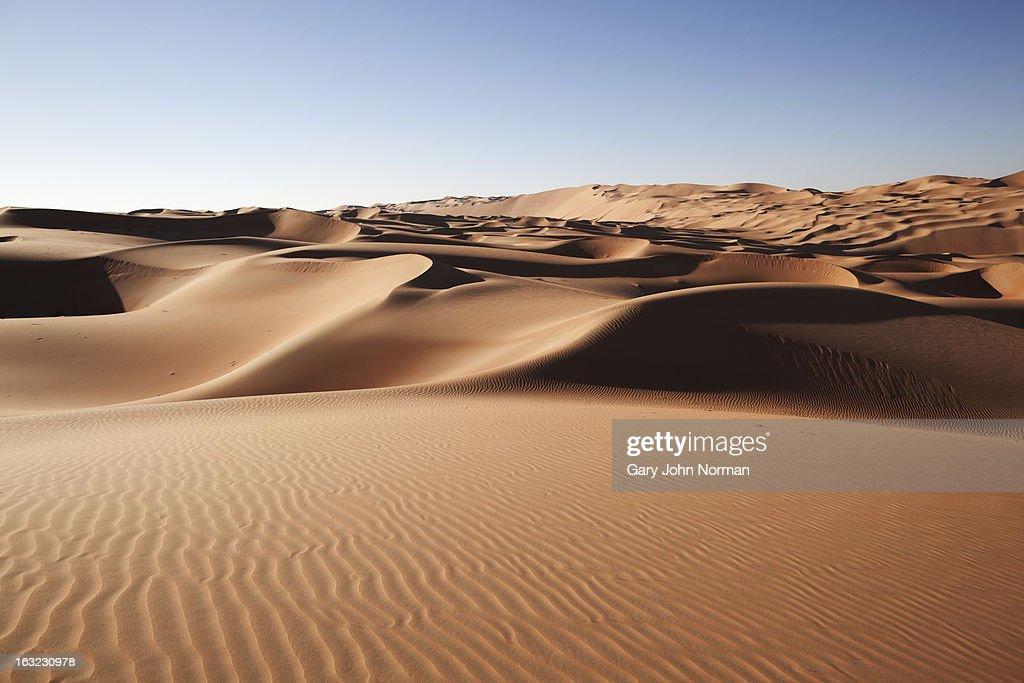 desert sand dunes at Liwa Oasis UAE