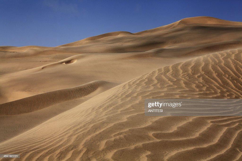 Dunas de areia do deserto : Foto de stock