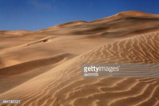 desert sand dunes : Foto de stock