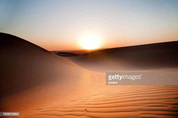 Desert Sunset Rub' al Khali of Abu Dhabi, UAE